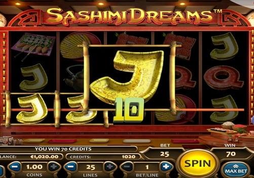 Выигрышная комбинация в аппарате Sashimi Dreams