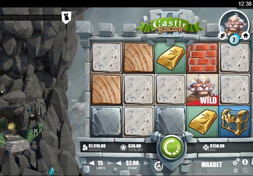 Комбинация с диким символом в автомате Castle Builder 2