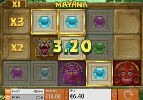 Выигрышная комбинация символов в автомате Mayana