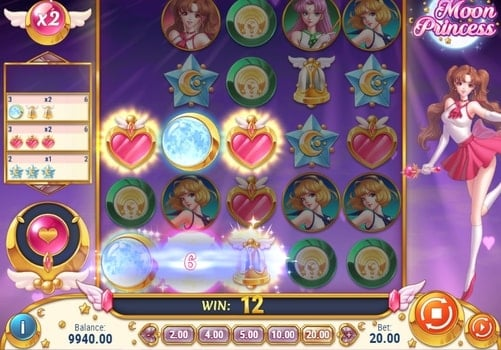 Комбинация символов в автомате Moon Princess