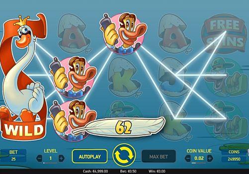 Выигрышная комбинация символов в автомате Scruffy Duck