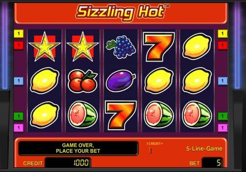 Играть в автоматы Sizzling Hot с быстрым выводом денег