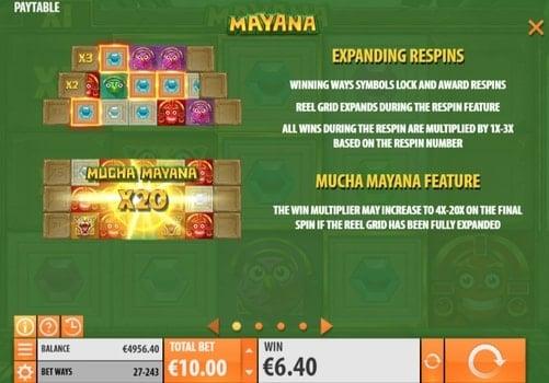 Описание респинов в игре Mayana