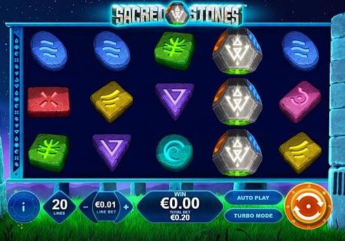 Выигрышная комбинация с диким знаком в автомате Sacred Stones