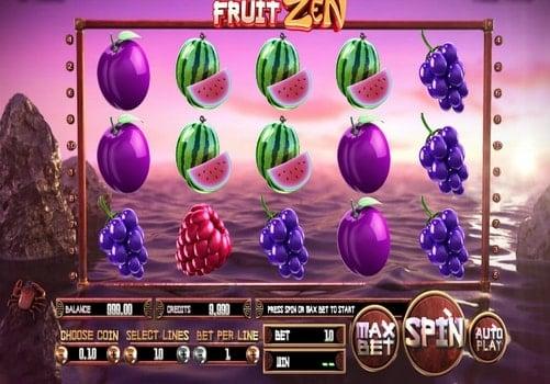Игровые автоматы с быстрым выводом денег Fruit Zen