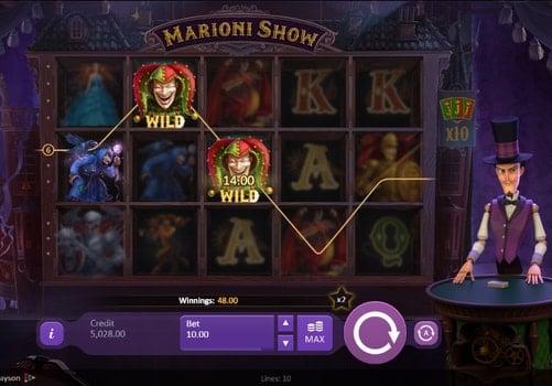 Дикие символы игрового аппарата Marioni Show