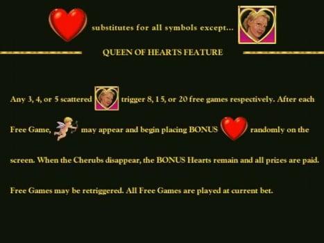 Бонусная функция в игровом аппарате Queen of Hearts