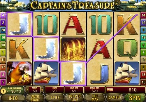 Призовая комбинация в игровом автомате Captain's Treasure Pro