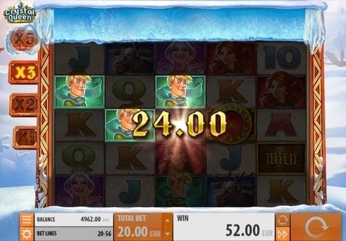 Выигрышная комбинация в игровом автомате Crystal Queen