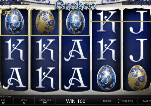 Призовая последовательность в игровом автомате Cuckoo