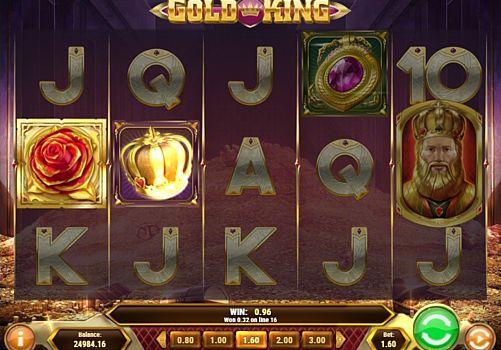 Призовая комбинация на линии в игровом автомате Gold King