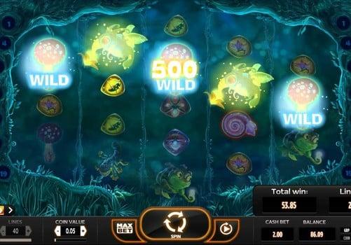 Выигрыш с дикими знаками в игровом автомате Magic Mashrooms