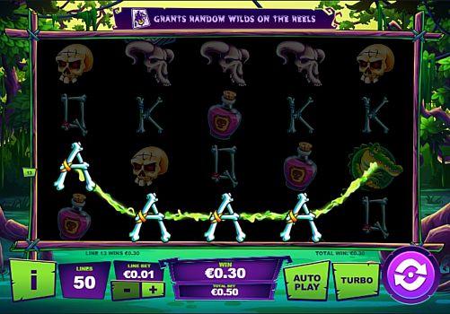 Призовая комбинация символов в игровом автомате Maji Wilds
