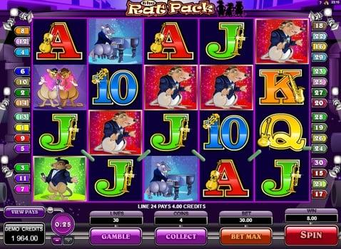 Призовая комбинация в игровом автомате The Rat Pack