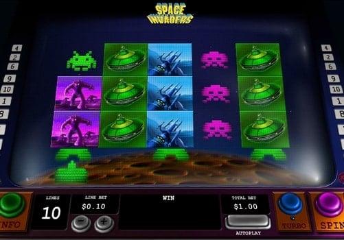 Игровые автоматы на реальные деньги с выводом - Space Invaders