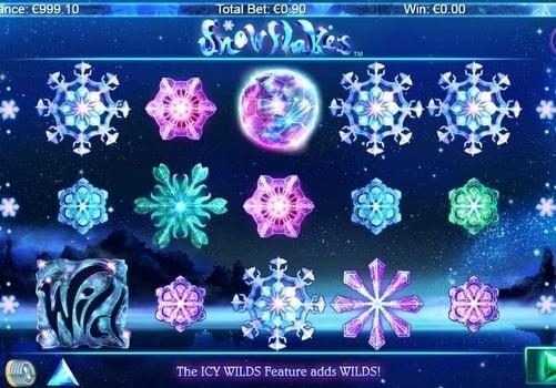 Игровые автоматы онлайн с выводом денег - Snowflakes