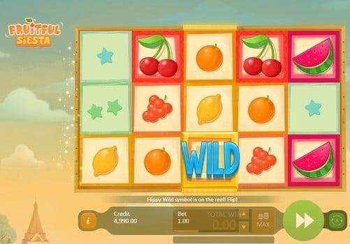 Дикий знак в игровом автомате Fruitful Siesta