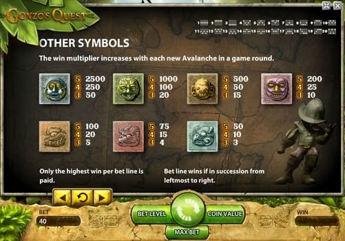 Играть с выводом денег в автомат Gonzo`s Quest онлайн
