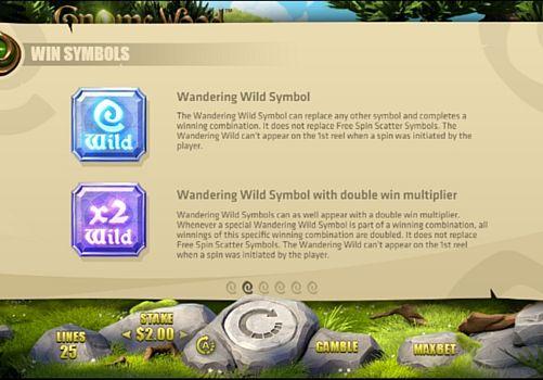 Описание дикого знака в онлайн аппарате Gnome Wood