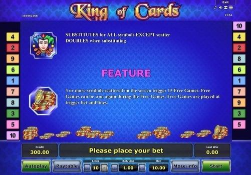 Wild и Scatter в онлайн аппарате King of Cards