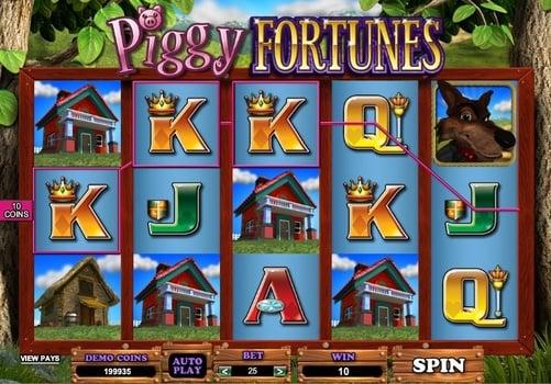 Выигрышная комбинация в онлайн автомате Piggy Fortunes