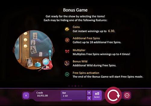 Бонусная игра в онлайн слоте Burlesque Queen