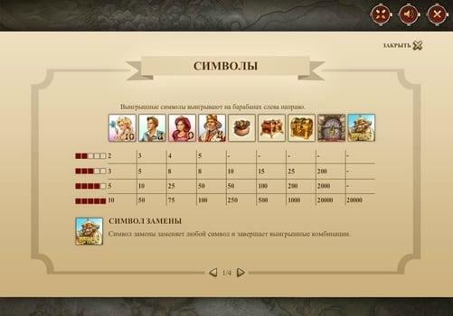 Таблица символов онлайн слота Castle Builder