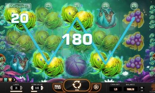 Выигрыш за комбинацию в онлайн слоте Fruitoids