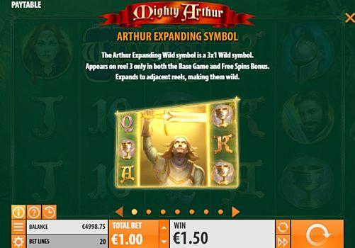 Дикие знаки в онлайн слоте Mighty Arthur