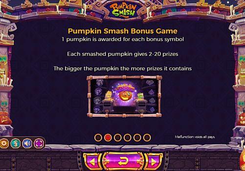 Бонусная игра в онлайн слоте Pumpkin Smash