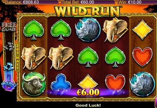 Выигрышная комбинация в онлайн слоте Wild Run