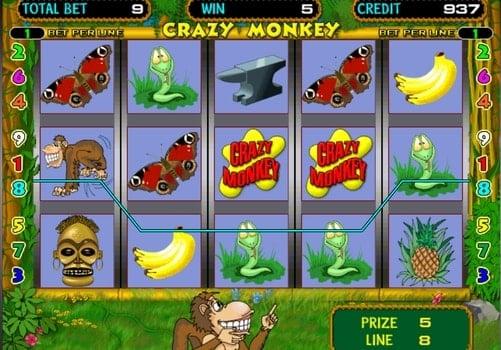 Игровые автоматы на реальные деньги с выводом Crazy Monkey