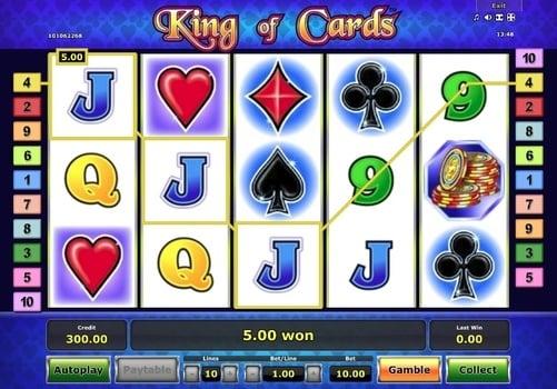 Выигрышная комбинация в слоте King of Cards
