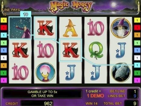 Выигрышная комбинация с диким символом в слоте Magic Money