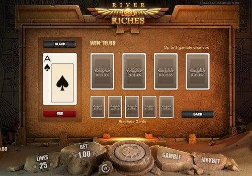 Риск-игра в слоте River of Riches
