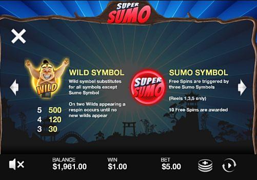 Описание дикого знака в слоте Super Sumo